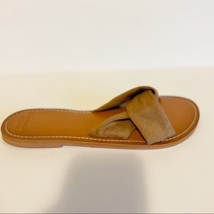 Abercrombie & Fitch Brown Slide Flat Sandals